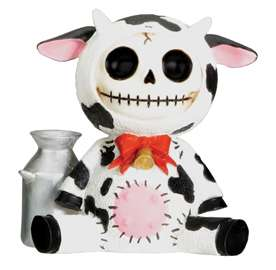 Furry Bones Moo Moo Cow Skeleton Animal Figurine