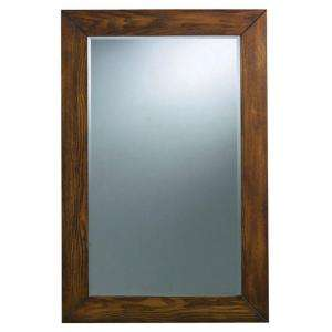 27 In. Framed Wall Mirror in Dark Brown 4153900830