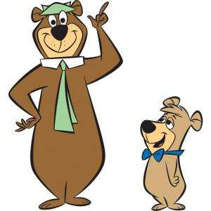 RoomMates Hanna Barbera Yogi Bear Peel and Stick Giant Wall Decals