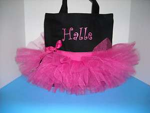 Personalized Hot Pink & Black Ribbon Personalized Dance Mongram