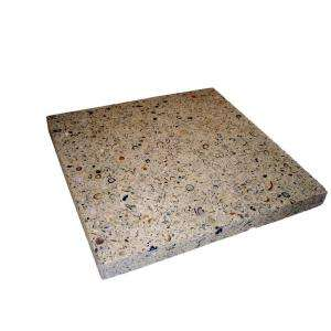 Earth Surfaces of America 24 in. x 24 in. Paver Buff with Shells and