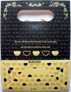 The Bear Small Paper Packing Flip with Yellow Ribbon Gift / Party