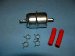 Fuel Filter Universal Inline 5/16 with clamps and hose
