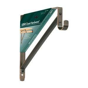 Lido Designs Oil Rubbed Bronze 12in x 11in Heavy Duty Shelf and Rod