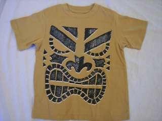 NWT Boys Gymboree Tiki Chief brown tan short sleeve shirt ~ 4 5 6