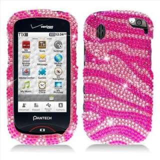 Zebra Bling Hard Case Cover for Verizon Pantech Hotshot 8992 Accessory