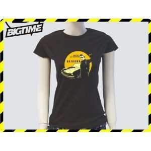 Damen T Shirt Steve MC Queen Bullitt Kult Serien Film Shirt braun E8