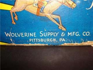 VINTAGE WOLVERINE SUPPLY & MFG. CO. NO. 40 GEE WIZ   THE RACING GAME