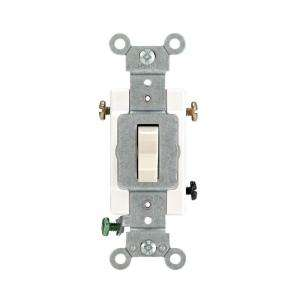 Leviton 15/20 Amp 3 Way Light Almond Industrial Toggle Switch R56