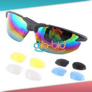 New Bicycle Bike Sport Cycling Safety Glasses 5 Lens 2#