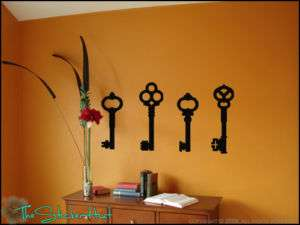 Vintage Keys Vinyl Wall Art Decor Stickers Decals 645