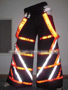 Techno Hardstyle Tanz Hose fluoreszierend Shuffle DJ cool PHAT Pants Y