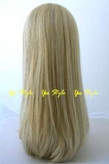Straight Long Blonde Beauty Hannah Salon Lady Wigs a28