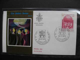 VATICAN CITY limited edition GOLD cachet covers, nice group, PLZ read