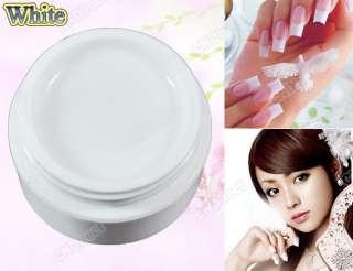 Clear White UV Builder Gel Acrylic Nail Art False Tips Kit Glue