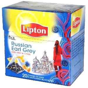 LIPTON PYRAMIDENBEUTEL RUSSIAN EARL GREY 20 X 1,8 GRAMM
