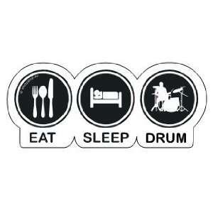 EAT SLEEP DRUM, DRUMMER, SCHLAGZEUGER Aufkleber Autoaufkleber