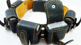 5lb Harness Leather Weighted Dog Collar Pitbull Amstaff