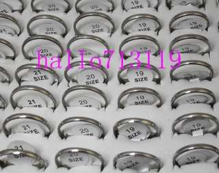 WHOLESALE 50MENS WEDDING 2mm BAND STAINLESS STEEL RINGS