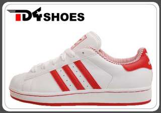 Adidas Originals Superstar 2 II W White Red 2012 New Womens Casual