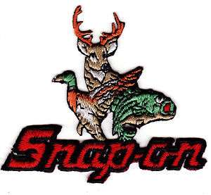 Snap On Wild Life Hunting Deer Fishing Trout Patch New