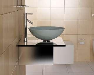 design waschtisch g ste wc mit armatur spiegel und beleuchtung. Black Bedroom Furniture Sets. Home Design Ideas