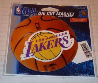 NBA NIB 4 INCH AUTO MAGNET   LOS ANGELES LAKERS