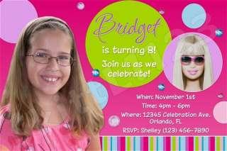 Custom Personalized Barbie Invitations