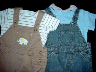 USED BABY BOY 6 9 MONTHS SPRING SUMMER OVERALL JUMPER DENIM OUTFIT