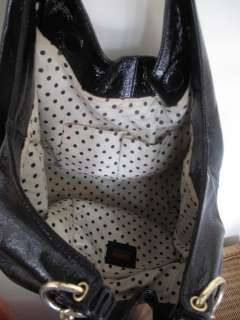 Hobo International Black Patent Leather slouch bag