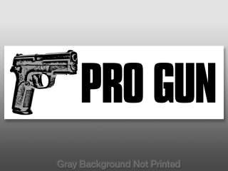 PRO GUN Bumper Sticker  handgun guns decal stickers nra