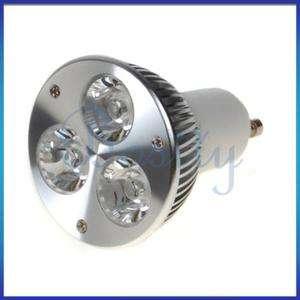 GU10 3W Cool White 3 LED Spotlight Bulb Light Lamp 85  240V 7000K New