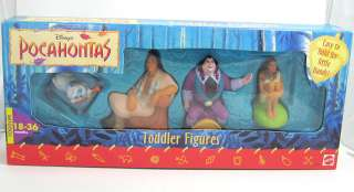 Disney POCAHONTAS Toddler Toy Figure Set RARE
