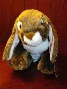 Alley Bunny Rabbit Plush Stuffed Animal Brown White NWT TOYS R US Baby