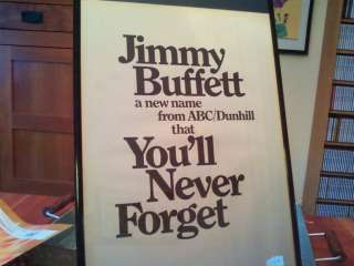 RARE & ORIGINAL JIMMY BUFFETT 1974 FIRST LP CD INTRO PROMO AD