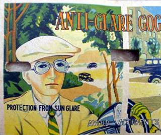 Vintage Anti Glare Goggles, Sun Glasses MOC; Japan
