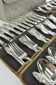 Estate Gorham Sterling Silver Sovereign Old 76 Piece Flatware Set No