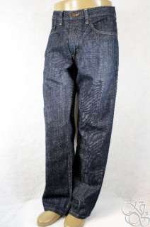 LEVIS JEANS 569 Loose Fit Straight Leg Soft Rinsed Dark Denim Pants