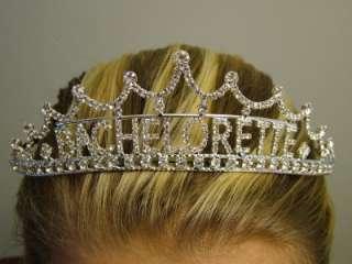 New Bride Bachelorette Party Bridal Crown Rhinestone Tiara Faux