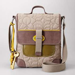 NEW FOSSIL KEY PER FLAP, TAUPE, NWT