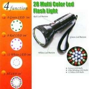 28 Multi Color Multi Function LED Flashlight
