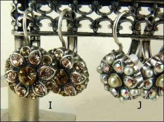 Mariana Handmade Swarovski Crystal Flower Earrings NWT