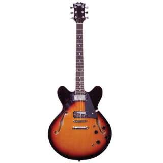 Johnny Brook Semi Acoustic Guitar Sunburst |