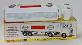 DINKY TOYS 945 AEC ESSO GAS TANKER TIGER IN TANK STICKER MIB