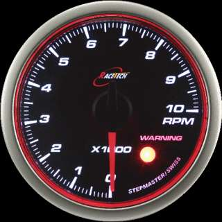 52mm RACETECH StepperMotor TURBO BOOST GAUGE ANGEL RING