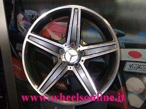 Set 4 Cerchi in lega Mercedes 18 Classe C W204 AMG doppia misura M523