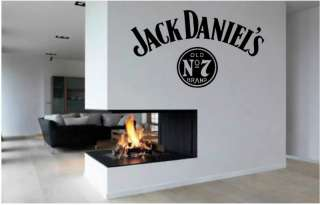 Jack Daniels Vinyl Wall Art Stickers Window Bedroom Livingroom **FREE