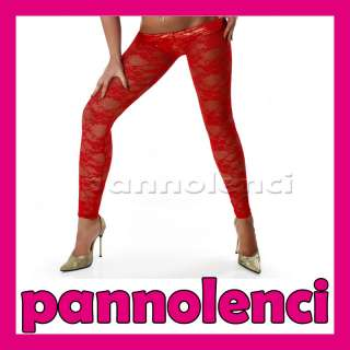 Bellissimi leggings elasticizzati in pizzo trasparente da vera Bond