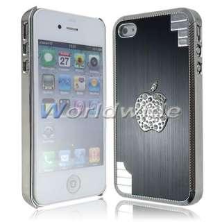 Luxury Metal Aluminum, Bling Diamond, Plastic Chrome Hard Case Cover