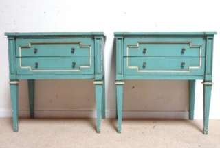 END TABLES TURQUOIS FRENCH DIRECTOIRE Draper Wearstler